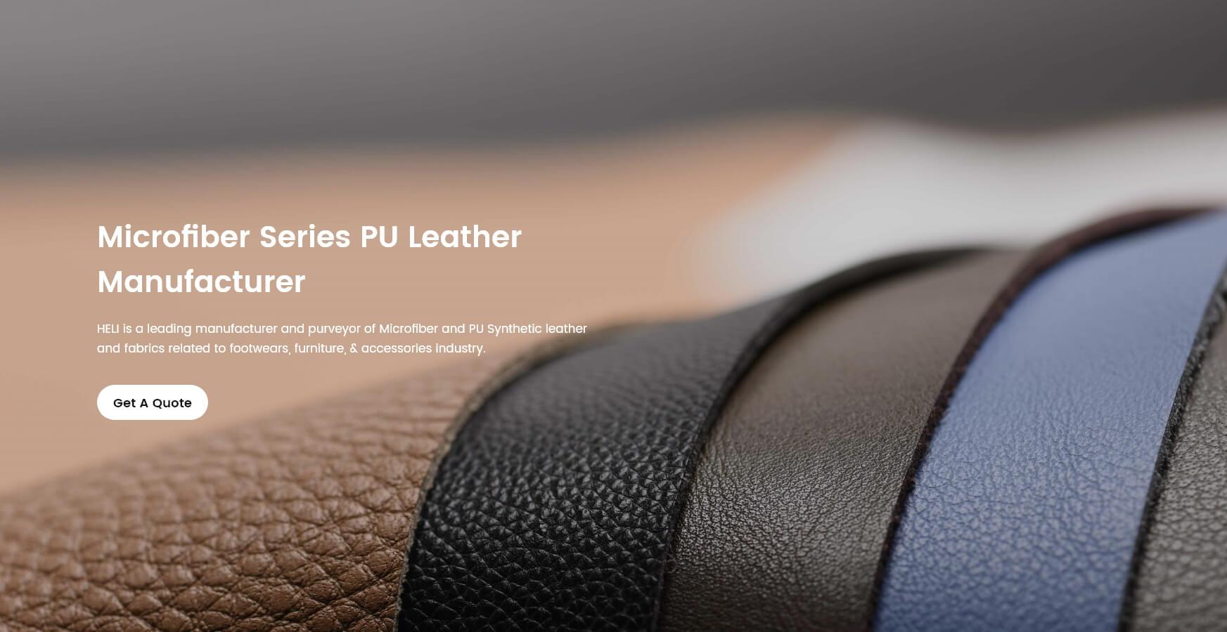 Microfiber Series PU Leather Manufacturer